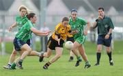 22 May 2010; Sharon Courtney, Ulster, in action against Denise Masterson, left, and Sharon Treacy, Leinster. Ladies Football Interprovincial Championship Final, Ulster v Leinster, Kinnegad GAA Club, Co. Westmeath. Picture credit: Ray Lohan / SPORTSFILE