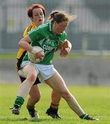 22 May 2010; Lorraine Muckian, Leinster, in action against Aileen Pyers, Ulster. Ladies Football Interprovincial Championship Final, Ulster v Leinster, Kinnegad GAA Club, Co. Westmeath. Picture credit: Ray Lohan / SPORTSFILE