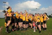 22 May 2010; The Ulster squad celebrate after the game. Ladies Football Interprovincial Championship Final, Ulster v Leinster, Kinnegad GAA Club, Co. Westmeath. Picture credit: Ray Lohan / SPORTSFILE