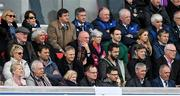 30 April 2016; IRFU Performance Director David Nucifora, Ireland head coach Joe Schmidt, Ireland defence coach Andy Farrell and Ireland forwards coach Simon Easterby watch on during the game. Guinness PRO12, Round 21, Ulster v Leinster. Kingspan Stadium, Ravenhill Park, Belfast, Co. Antrim. Picture credit: Stephen McCarthy / SPORTSFILE