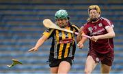 1 May 2016; Miriam Walsh, Kilkenny, in action against Sarah Dervan, Galway. Irish Daily Star National Camogie League Division 1 Final, Galway v Kilkenny. Semple Stadium, Thurles, Co. Tipperary. Picture credit: Piaras Ó Mídheach / SPORTSFILE