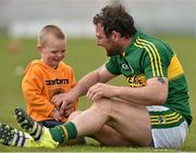 1 May 2016; Kerry's Mikey Boyle with his two year old son Bobby after the game against Carlow. Leinster GAA Hurling Championship Qualifier, Round 1, Kerry v Carlow, Austin Stack Park, Tralee, Co. Kerry. Picture credit: Matt Browne / SPORTSFILE