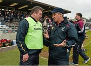1 May 2016; Offaly manager Eamonn Kelly, left, and Westmeath manager Michael Ryan, after the game. Leinster GAA Hurling Championship Qualifier, Round 1, Westmeath v Offaly, TEG Cusack Park, Mullingar, Co. Westmeath. Picture credit: Paul Mohan / SPORTSFILE
