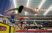 1 May 2016; A general view of the start of the Men's 200m Individual Medley B-Final. Irish Open Long Course Swimming Championships, National Aquatic Centre, National Sports Campus, Abbotstown, Dublin. Picture credit: Sam Barnes / SPORTSFILE