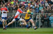 1 May 2016; Ciaran Murtagh, Roscommon, in action against Keith Quinn, New York. Connacht GAA Senior Football Championship, Round 1, New York v Roscommon, Gaelic Park, New York, USA. Picture credit: Daire Brennan / SPORTSFILE