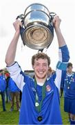 2 May 2016; Nenagh captain Jack Dunne lifts the cup after victory over Wilton United. FAI Umbro U17 Cup Final, Nenagh v Wilton United. Janesboro FC, Janesboro, Limerick. Picture credit: Diarmuid Greene / SPORTSFILE
