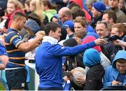 2 May 2016; Leinster's Jonathan Sexton meets supporters during an open training at the RDS, Ballsbridge, Dublin. Picture credit: Stephen McCarthy / SPORTSFILE