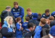 2 May 2016; Leinster players, from left, Ross Molony, Cathal Marsh and Luke McGrath meet supporters during an open training at the RDS, Ballsbridge, Dublin. Picture credit: Stephen McCarthy / SPORTSFILE