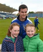 2 May 2016; Leinster's Jonathan Sexton meet supporters during an open training at the RDS, Ballsbridge, Dublin. Picture credit: Stephen McCarthy / SPORTSFILE