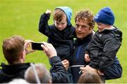 2 May 2016; Leinster's Jamie Heaslip meets supporters during an open training at the RDS, Ballsbridge, Dublin. Picture credit: Stephen McCarthy / SPORTSFILE
