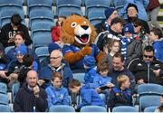 2 May 2016; Leo The Lion with supporters during an open training session at the RDS, Ballsbridge, Dublin. Picture credit: Stephen McCarthy / SPORTSFILE