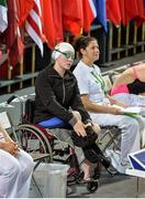 2 May 2016; Ailbhe Kelly, age 17, from Castleknock, Dublin, after finishing in fourth place in the Women's 400m Freestyle S9 final. IPC European Open Swim Championships. Funchal, Portugal. Picture credit: Carlos Rodrigues / SPORTSFILE