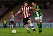 2 May 2016; Ryan McBride, Derry City, in action against Mark O'Sullivan, Cork City. EA Sports Cup, Quarter-Final, Cork City v Derry City. Turners Cross, Cork. Picture credit: Eóin Noonan / SPORTSFILE