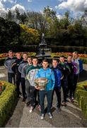 9 May 2016; In attendance at the launch of the 2016 Leinster GAA Senior Championships are footballers, from left, Laois' Donal Kingston, Offaly's Alan Mulhall, Carlow's Darragh Foley, Louth's Adrian Reid, Kildare's Eoin Doyle, Dublin's Kevin McManamon, Wicklow's John McGrath, Meath's Donal Keogan, Wexford's Brian Malone, Longford's Paddy Collum. Pearse Museum, Rathfarnham, Dublin. Picture credit: Ramsey Cardy / SPORTSFILE