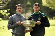 9 May 2016; In attendance at the launch of the 2016 Leinster GAA Senior Championships are footballers Adrian Reid, Louth, left, and Donal Keogan, Meath. Pearse Museum, Rathfarnham, Dublin.  Picture credit: Sam Barnes / SPORTSFILE