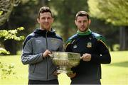 9 May 2016; In attendance at the launch of the 2016 Leinster GAA Senior Championships are footballers Donal Keogan, Meath, right, and Darragh Foley, Carlow. Pearse Museum, Rathfarnham, Dublin. Picture credit: Sam Barnes / SPORTSFILE