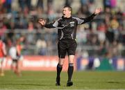 30 April 2016; Referee Padraig Hughes. EirGrid GAA Football Under 21 All-Ireland Championship Final, Cork v Mayo. Cusack Park, Ennis, Co. Clare. Picture credit: Piaras Ó Mídheach / SPORTSFILE