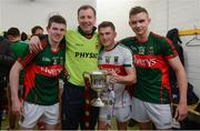 30 April 2016; Mayo players celebrate with the cup after the game. EirGrid GAA Football Under 21 All-Ireland Championship Final, Cork v Mayo. Cusack Park, Ennis, Co. Clare. Picture credit: Piaras Ó Mídheach / SPORTSFILE