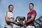4 May 2016; Cork Constitution captain James Ryan, left, and Clontarf captain Ben Reilly in attendance at an Ulster Bank League Division 1A Final press conference. Aviva Stadium, Lansdowne Road, Dublin. Picture credit: David Maher / SPORTSFILE