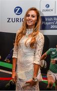 4 May 2016; In attendance at the Zurich IRUPA Rugby Player Awards is Jean-Marié Stander, wife of Munster player CJ Stander. Hilton by Double Tree, Ballsbridge, Dublin. Picture credit: Ramsey Cardy / SPORTSFILE