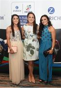 4 May 2016; In attendance at the Zurich IRUPA Rugby Player Awards is Amee-Leigh Murphy Crowe, Audrey O'Flynn, centre, and Lucy Mulhall. Hilton by Double Tree, Ballsbridge, Dublin. Picture credit: Ramsey Cardy / SPORTSFILE