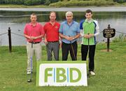 28 May 2010; Pictured from left to right, Brendan Landers and John Whelan from Lismore GAA Club, Co. Waterford, along with PJ Quinlivan and Padraig Quinlivan from Clonmel Og GAA Club, Co. Tipperary. FBD All-Ireland GAA Golf Challenge 2010 - Munster Final, Dromoland Castle Golf and Country Club, Newmarket-On-Fergus, Co. Clare. Picture credit: Diarmuid Greene / SPORTSFILE