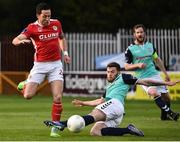 6 May 2016; Billy Dennehy, St Patrick's Athletic, in action against Patrick McClean, Derry City. SSE Airtricity League, Premier Division, St Patrick's Athletic v Derry City. Richmond Park, Dublin. Picture credit: David Maher / SPORTSFILE