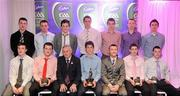 2 June 2010; Cadbury Under 21 Hero of the Future Awards winners, back row, from left, Michael Higgins, Roscommon, Peter Acheson, Tipperary, Neil Collins, Roscommon, Brendan Murphy, Carlow, David Givney, Cavan, Dean Rock and Nicky Devereux, both Dublin, with, front row, from left, Leo McLoone, Michael Murphy, both Donegal, Uachtarán Chumann Lúthchleas Gael Criostóir Ó Cuana, Rory O'Carroll, Dublin, Shane Guest, Senior Brand Manager, Cadbury Ireland, Paul Geaney, Kerry, and Sean Carey, Tipperary. The 2010 Cadbury Hero of the Future Award was won by Rory O'Carroll, from Dublin. All nominees can be seen on www.cadburygaau21.com. Past winners, Colm O'Neill and Fintan Goold from Cork, Killian Young from Kerry and Keith Higgins from Mayo have gone on to represent their Counties at Senior level. Cadbury Under 21 Hero of the Future Awards, Croke Park, Dublin. Picture credit: Stephen McCarthy / SPORTSFILE
