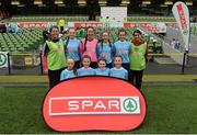 11 May 2016; The St Colman's NS, Mucklagh, Offaly, squad. SPAR FAI Primary School 5s National Finals, Aviva Stadium, Dublin. Picture credit: Piaras Ó Mídheach / SPORTSFILE