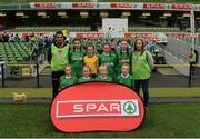 11 May 2016; The St Oran's NS, Cockhill, Inishowen, squad. SPAR FAI Primary School 5s National Finals, Aviva Stadium, Dublin. Picture credit: Piaras Ó Mídheach / SPORTSFILE
