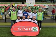11 May 2016; The Claregalway NS, Galway, squad. SPAR FAI Primary School 5s National Finals, Aviva Stadium, Dublin. Picture credit: Piaras Ó Mídheach / SPORTSFILE