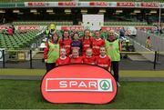 11 May 2016; The Dromtrasna NS, Abbeyfeale, Limerick, squad. SPAR FAI Primary School 5s National Finals, Aviva Stadium, Dublin. Picture credit: Piaras Ó Mídheach / SPORTSFILE