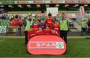 11 May 2016; The Croom NS, Limerick, squad. SPAR FAI Primary School 5s National Finals, Aviva Stadium, Dublin. Picture credit: Piaras Ó Mídheach / SPORTSFILE