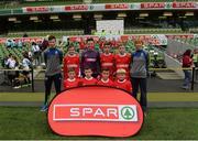 11 May 2016; The Gaelscoil Bhríde, Thurles, Tipperary, squad. SPAR FAI Primary School 5s National Finals, Aviva Stadium, Dublin. Picture credit: Piaras Ó Mídheach / SPORTSFILE