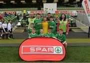 11 May 2016; The St Michael's NS, Coootehill, Cavan, squad. SPAR FAI Primary School 5s National Finals, Aviva Stadium, Dublin. Picture credit: Piaras Ó Mídheach / SPORTSFILE