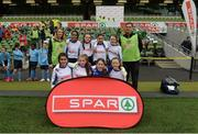 11 May 2016; The Scoil Chaitríona, Renmore, Galway, squad. SPAR FAI Primary School 5s National Finals, Aviva Stadium, Dublin. Picture credit: Piaras Ó Mídheach / SPORTSFILE