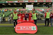 11 May 2016; The Scoil Niocláis, Frankfield, Cork, squad. SPAR FAI Primary School 5s National Finals, Aviva Stadium, Dublin. Picture credit: Piaras Ó Mídheach / SPORTSFILE