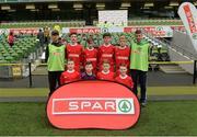 11 May 2016; The Scoil Naomh Iosaf, Riverstown, Cork, squad. SPAR FAI Primary School 5s National Finals, Aviva Stadium, Dublin. Picture credit: Piaras Ó Mídheach / SPORTSFILE