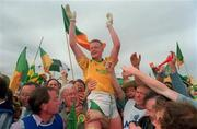24 July 1994, Declan Darcy Leitrim Captain celebrates after winning the Connacht Championship, Mayo V Leitrim.   Picture Credit: David Maher/SPORTSFILE