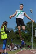 14 May 2016; Mikey Cullen, St Peter's, Co. Wexford, competing in the Senior Boys Long Jump during day 2 of the GloHealth Leinster Schools Track & Field Championships. Morton Stadium, Santry. Picture credit: Sam Barnes / SPORTSFILE