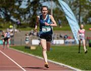 14 May 2016; Sophie Murphy, Mount Anvil, on her way to winning the Senior Girls 3000m during day 2 of the GloHealth Leinster Schools Track & Field Championships. Morton Stadium, Santry. Picture credit: Sam Barnes / SPORTSFILE