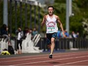 14 May 2016; Sean Lawlor, Kylemore, on his way to winning the Senior Boys 200m during Day 2 of the GloHealth Leinster Schools Track & Field Championships. Morton Stadium, Santry. Picture credit: Sam Barnes / SPORTSFILE