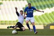14 May 2016; Alan McGreal, Crumlin United, in action against Ryan Lonergan, Letterkenny Rovers. FAI Intermediate Cup Final, Crumlin United v Letterkenny Rovers. Aviva Stadium, Dublin. Picture credit: Ramsey Cardy / SPORTSFILE
