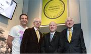 16 May 2016; Olympic medallists, from left, Kenneth Egan, John Treacy, Michael Carruth and Ronnie Delany at the launch of the 'Ireland's Olympians' exhibition in the GAA Museum, Croke Park, Dublin.  Picture credit: Piaras Ó Mídheach / SPORTSFILE