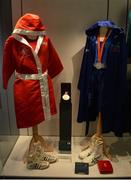 16 May 2016; A general view of memorabilia from Katie Taylor and Kenneth Egan, including her gold medal won in the women's 60kg boxing competition at the London 2012 Olympic Games and his silver medal won in the 81kg, boxing competition at the 2008 Beijing Olympic Games at the launch of the 'Ireland's Olympians' exhibition in the GAA Museum, Croke Park, Dublin. Picture credit: Piaras Ó Mídheach / SPORTSFILE