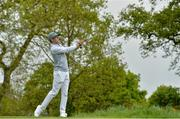 18 May 2016; Singer Niall Horan of One Direction on the 4th tee  box during the Dubai Duty Free Irish Open Golf Championship Pro-Am at The K Club in Straffan, Co. Kildare. Photo by Brendan Moran/Sportsfile