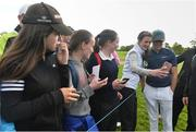 18 May 2016; Fans line up for selfies with Niall Horan of One Direction after his round at the Dubai Duty Free Irish Open Golf Championship Pro-Am at The K Club in Straffan, Co. Kildare. Photo by Diarmuid Greene/Sportsfile