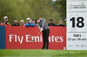 18 May 2016; Rory McIlroy drives off from the 18th tee during the Dubai Duty Free Irish Open Golf Championship Pro-Am at The K Club in Straffan, Co. Kildare. Photo by Diarmuid Greene/Sportsfile