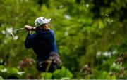 19 May 2016; Shane Lowry of Ireland watches his tee shot from the 17th tee during day one of the Dubai Duty Free Irish Open Golf Championship at The K Club in Straffan, Co. Kildare. Photo by Diarmuid Greene/Sportsfile