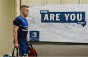20 May 2016; Ian Madigan of Leinster arrives ahead of the Guinness PRO12 Play-off match between Leinster and Ulster at the RDS Arena in Dublin. Photo by Ramsey Cardy/Sportsfile